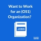 """blue box with text reading """"want to work for an os1 organization?"""
