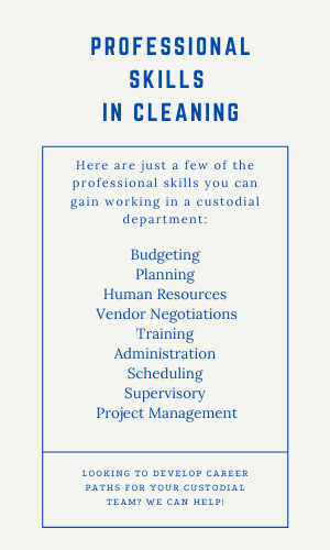 A list of professional skills you can acquire in the professional cleaning industry.